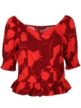 Блуза TOP SECRET Красный с принтом sbk2525