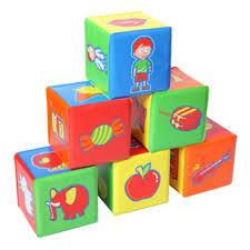 Кубики развивающие 6 шт. 7,5х7,5 см