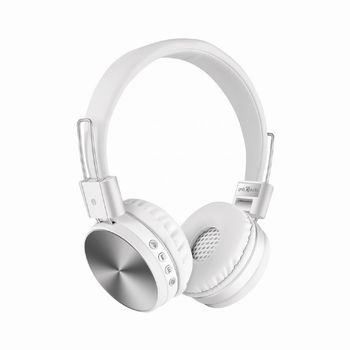 "Gembird BHP-KIX-W  ""Kyoto"" - White, Bluetooth Stereo Headphones with built-in Microphone, Bluetooth V4.2 +EDR, up to 250 hours of standby & 6 hours of listening time, distance: up to 8 m, Rechargeable 200mAh Li-ion battery, multifunction button"