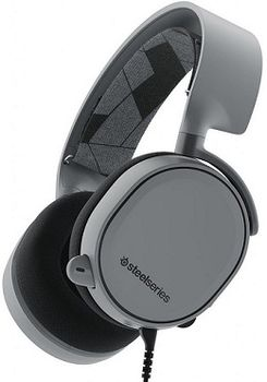 STEELSERIES Arctis 3 / Gaming Headset with retractable Best Mic in Gaming, ClearCast,  7.1 Surround Sound, 40mm neodymium drivers, Compatibility (PC/Mac/PS/Xbox/VR/Mobile), Cable lenght 3.0m, 3.5mm jack, Slate Grey