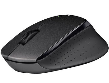 Logitech Wireless M330 Silent Plus, Optical Mouse for Notebooks, nano receiver, Black
