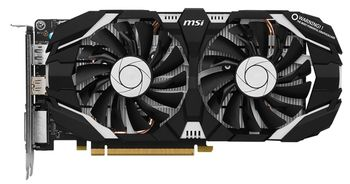 MSI GeForce GTX 1060 6GT OCV1 /  6GB DDR5 192Bit 1759/8008Mhz, DVI, HDMI, DisplayPort, Dual fan, Military Class 4 (MIL-STD-810G), Gaming App,  Retail