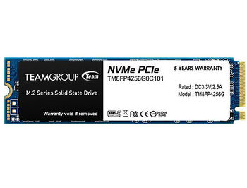 256GB SSD NVMe M.2 Gen3 x4 Type 2280 Team MP34 TM8FP4256G0C101, Read 2700MB/s, Write 850MB/s (solid state drive intern SSD/внутрений высокоскоростной накопитель SSD)