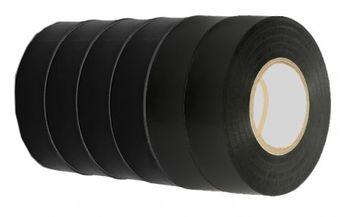 Изолента 19мм*10м*130мк CAMAT 6шт черная