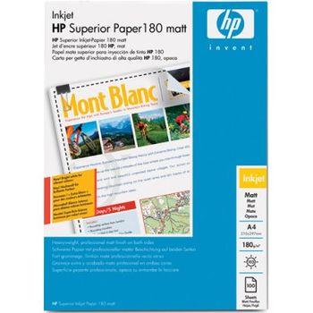 HP Superior InkJet Paper, Matt, 180g/m2, A4 (100 sheets)