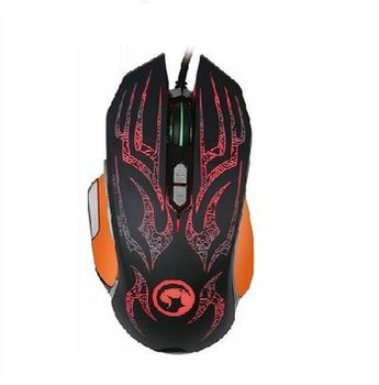 """MARVO """"G920"""", Gaming Mouse, 500/1000/1500/2000/3000/4000dpi adjustable, Optical sensor (Avago A3050), 8 buttons, sniping key, 6 different colors indicating each DPI, OMRON switches, Customization software, Braided cable, USB, Black"""