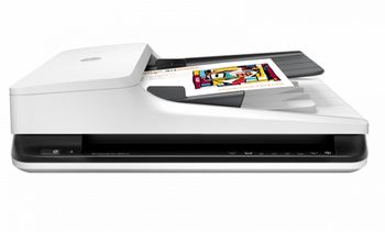 HP ScanJet Pro 2500 f1 Flatbed Scanner, Up to 20 ppm/40 ipm (300 dpi), up to 1500 pages daily, 50 sheets ADF, Single pass E-Duplex, 2-line LCD, Hi-Speed USB 2.0