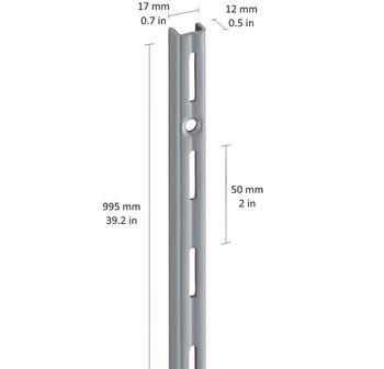 купить Настенный профиль 995 мм, серый в Кишинёве