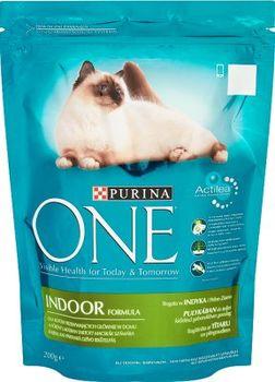 купить Purina One Indoor Formula Cat Turkey 200 г в Кишинёве