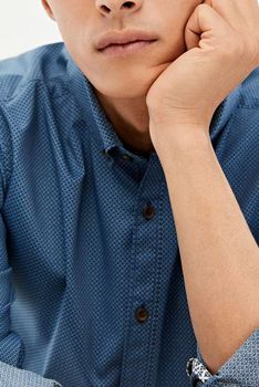 Рубашка SPRINGFIELD Синий с принтом