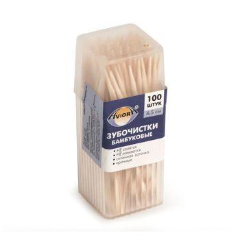 купить Зубочистки бамбуковые, 100 шт. в пластиковой баночке в Кишинёве