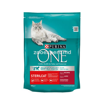 Purina One Steril Cat с говядиной 800 gr