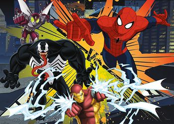 "13205 Trefl Puzzles-""200"" - The Clash/Disney Marvel Spiderman"