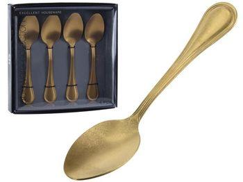 Набор чайных ложек EH 4шт золотых Античность, сталь