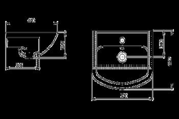 Умывальник Santeri Aquaton 52x44