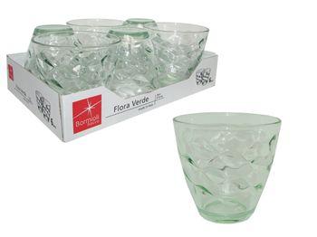 Набор стаканов для воды Flora Acqua 6шт, 260ml, зеленые