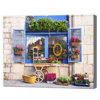 Цветочная лавочка, 40x50 см, aлмазная мозаика