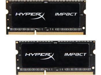 купить 16GB (Kit of 2*8GB) DDR3L-1866 SODIMM Kingston HyperX® Impact, PC14900, CL11 в Кишинёве