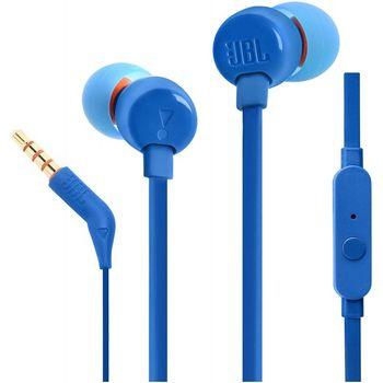 купить Наушники с микрофоном JBL T110, Blue в Кишинёве
