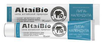 """Алтайбио """"Липа-Календула"""" Зубная паста для чувствительных зубов"""