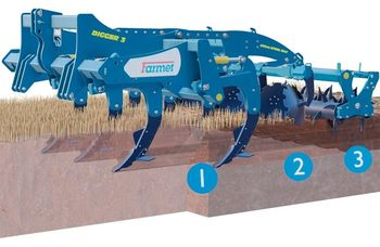 купить Digger 3 N - глубокорыхлитель 7 лап  (2,9 метра) с катком, и закрывающими дисками - Фармет в Кишинёве