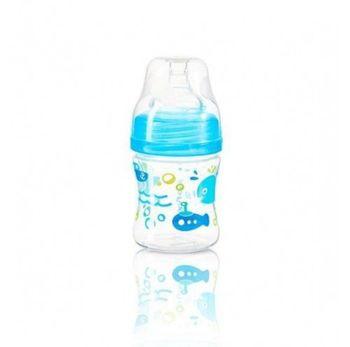 Антиколиковая бутылка с широким горлышком BabyOno 120 ml Blue