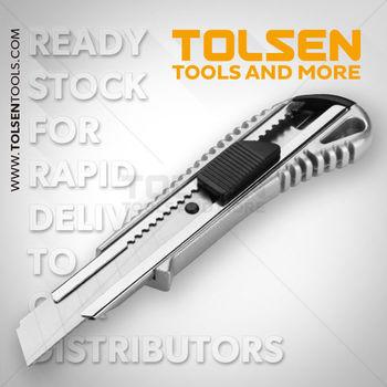 купить Нож с отламывающимся лезвием 18мм алюминий Tolsen в Кишинёве