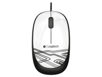Logitech M105 Optical Mouse, Corded, ambidextrous comfort, White, USB