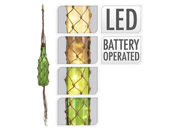 "Lampa suspendata ""Sticla in plasa"" 5LED, D7cm, H29cm, 4culori"