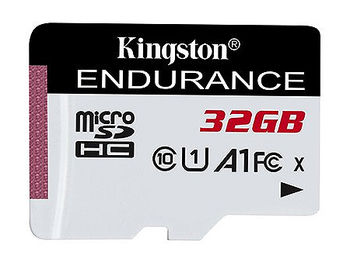 32GB Kingston High-Endurance SDCE/32GB High-Endurance microSDHC, 95MB/s, (Class 10 UHS-I, U1, V10, A1) + Adapter MicroSD->SD (card de memorie/карта памяти)