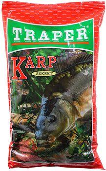 Прикормка Traper SEKRET, KARP (красная) 1кг
