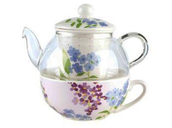 купить Чайник заварочный 500ml Elisir Romantic, с чашкой в Кишинёве