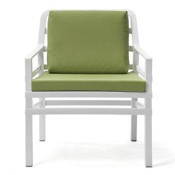 Кресло с подушками Nardi ARIA BIANCO lime 40330.00.061.061 (Кресло с подушками для сада и терас)