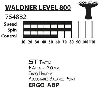 Ракетка для настольного тенниса Donic Waldner 800 / 754882,  2.0 мм, Vari Slick-Rubber (3894)