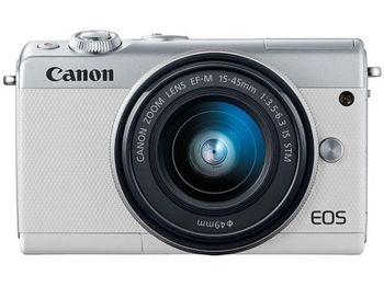 DC Canon EOS M100 White & EF-M 15-45 STM