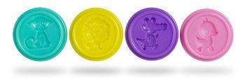 Масса для лепки Glitter pastel  Colorino 4 цветов 224 г.