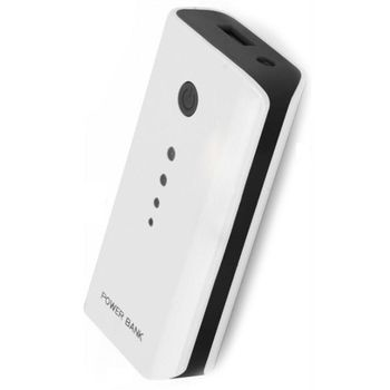 5200mAh Power Bank - Esperanza EMP104WE, Black, Power capacity: 5200mAh, Portable Battery Charger with USB output socket, Four LED Power capacity indicators, Output power: 5V/1A