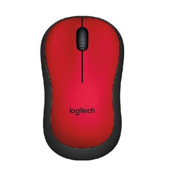 Logitech Wireless Mouse M220 Red, Optical Mouse for Notebooks, Nano receiver, Red, Retail
