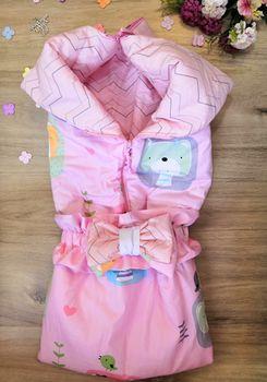 Конвертик трансформер для новорожденных PAMPY розовый