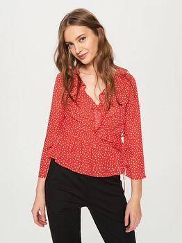 Блуза RESERVED Красный в горошек