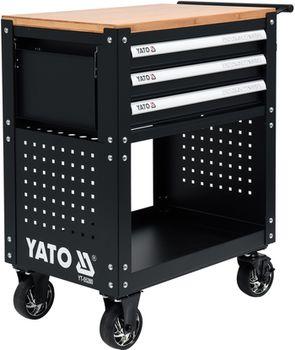 купить 55280YT Шкаф для инструментов с 3 ящиками 162 шт. YATO в Кишинёве