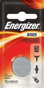 Energizer CR2025, Lithium,3V
