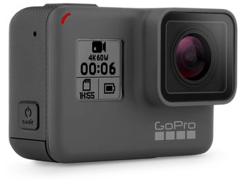 Action Camera GoPro HERO6 Black, Photo-Video Resolutions:12MP/30-4K60/2,7K80/1080P240, slow-motion, waterproof without a housing down to 10m, voice commands, advanced image stabilzation, touch zoom, night photo modes, Battery 1220mAh, 117g