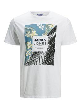 Майка JACK&JONES Белый с принтом 12167843