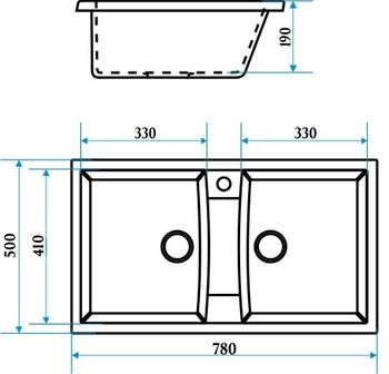 купить Матовые кухонные мойки из литьевого мрамора  (черный.) F026Q4 в Кишинёве