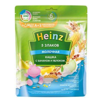 cumpără Heinz terci 5 cereale cu lapte mere și banane Omega 3, 6+ luni, 200 g în Chișinău