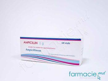 купить Ampicilina pulb./sol. inj./perf. 1g N10 в Кишинёве