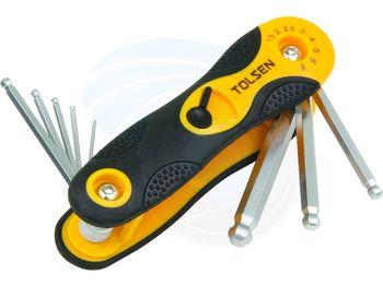 купить Набор шестигранных ключей - 8шт (1,5-8мм) складной TOLSEN в Кишинёве