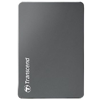"""2.5"""" External HDD 1.0TB (USB3.0)  Transcend StoreJet 25С3, Silver, Aluminum casing, Crafted with aluminum anodizing and CNC milling technology , Exclusive Transcend Elite, Software compatible with Mac OS X"""