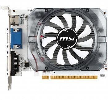 MSI GeForce GT 730 (N730K-2GD3/OCV1) /  2GB DDR3 64Bit 1006/1600Mhz, D-Sub, DVI, HDMI, Single fan, Retail